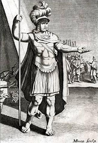 Entrega de Eumenes a Antígon.