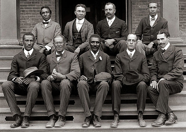 George Washington Carver with fellow faculty of Tuskegee Institute c, 1902