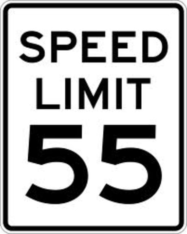 National Speed Limit-55mph
