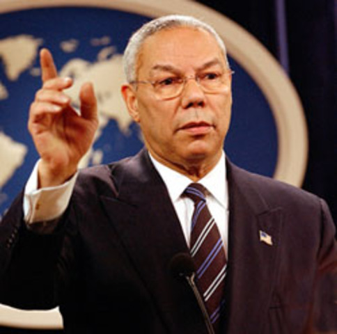 Colin Powell presented information that UAVs were ready to be launched against the U.S