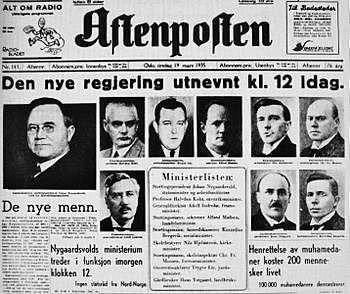 Arbeiderpartiet får makten i Norge