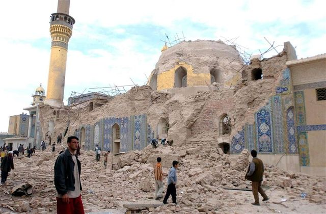 al-Askari Mosque bombing in Samarra, resulting in heavy violence over the following days