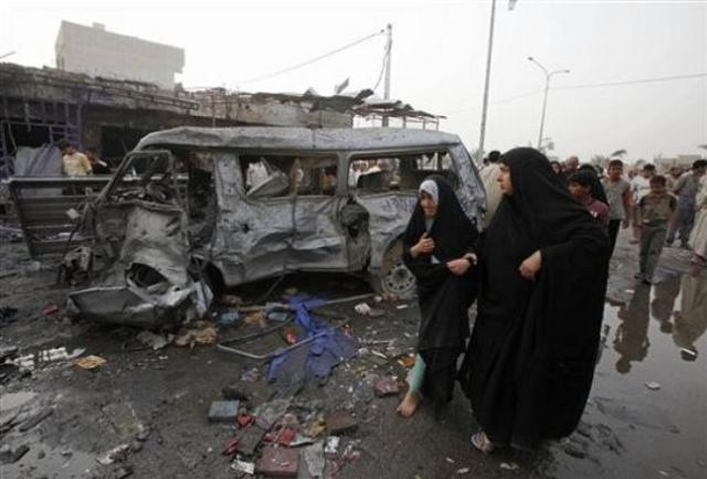 Deadliest single attack of entire war - 800 civilians killed nad 100 homes destroyed in a series of suicide bombings