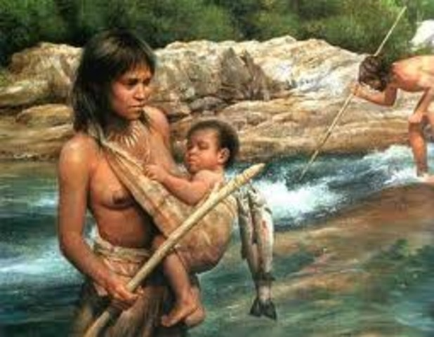 Cro-Magnon people migrate out of Africa