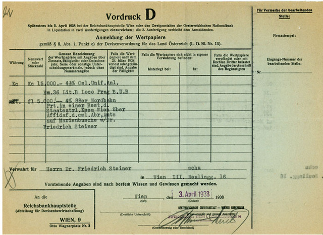 Jews in Reich must register all property with authorities.