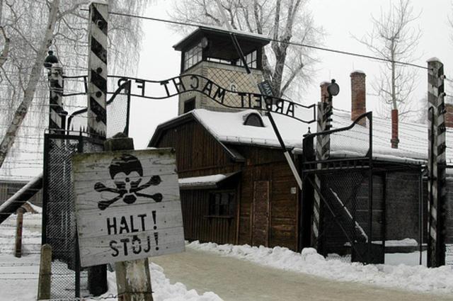 Concentration camp established at Auschwitz