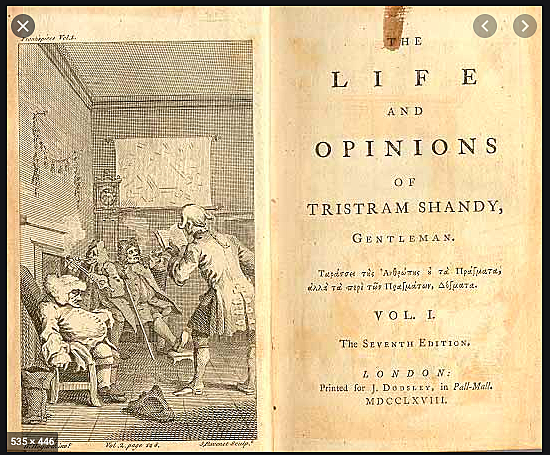 Laurence Sterne publishes the first two volumes of Tristram Shandy,