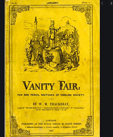 William Makepeace Thackeray begins publication of his novel Vanity Fair