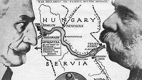 Declaració de guerra Àustria vs Sèrbia