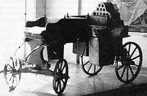First self-propelled vehicle in history.