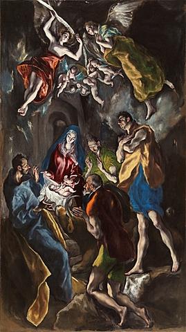 La adoración de los pastores, El Greco
