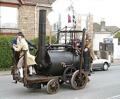 First vehicle to carry a Steam engine