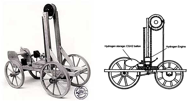 First vehicle to use an internal combustion engine
