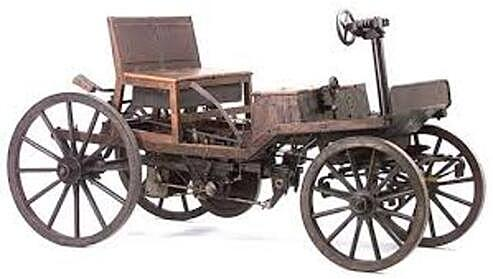 First petrol-powered internal combustion car