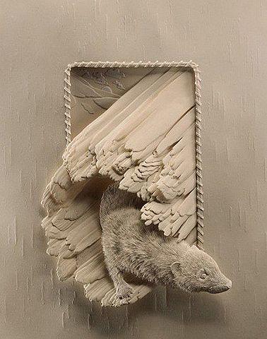 """GUILLIEZ Manon - La présentation de l'oeuvre / Calvin Nicholls, """"paper zoo"""", galerie d'Ontario, du Canada et du monde entier"""
