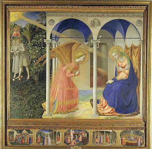 """Quattrocento italiano. Fra Angelico, """"La Anunciación"""" (1425-1428)."""