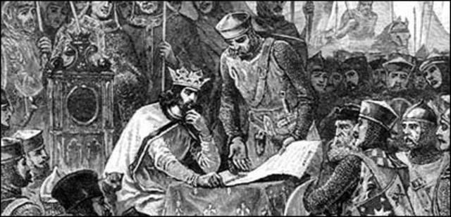Carta Magna (Magna Carta Libertatum ) 15 de junio de 1215.