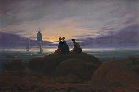 """""""Luna saliendo sobre el mar"""" Friedrich"""