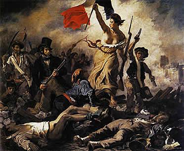"""""""La llibertat guiant el poble"""" Delacroix"""