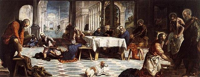 "Cinquecento italiano (Manierismo). Tintoretto, ""El Lavatorio"" (1548-1549)."
