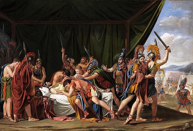 """Neoclasicismo. José de Madrazo, """"La muerte de Viriato, jefe de los lusitanos"""" (1807)."""