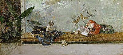 """Impresionismo - Fortuny, """"Los hijos del pintor en el salón japonés"""" (1874)"""