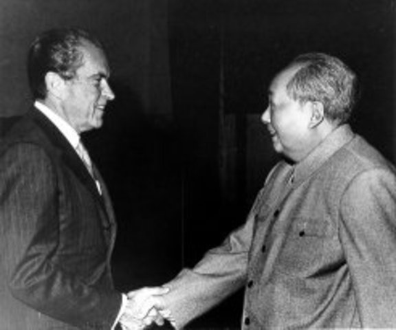 Nixon becomes the first U.S. President to travel to China