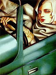 Autorretrato en Bugatti verde / Tamara de Lempika