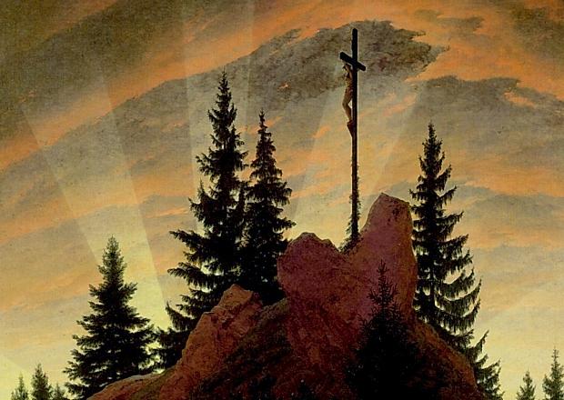 Caspar David Friedrich:Cruz en las montañas