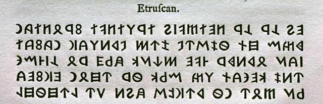 Alfabeto etrusco