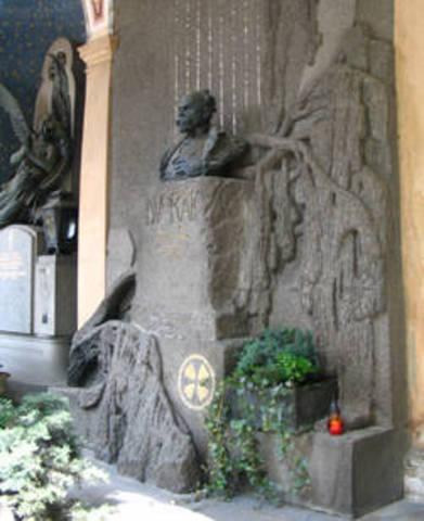 Mor a Praga l'1 de maig, d'una trombosi cerebral