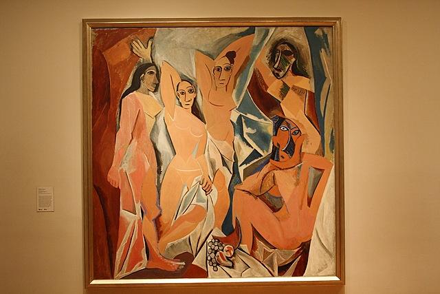"""Cubismo fundacional. Picasso, """"Las señoritas de Avignon"""" (1907)"""