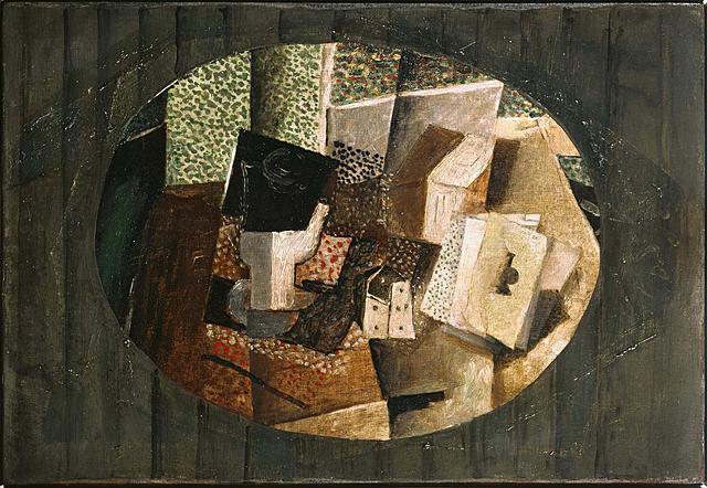 """Cubismo sintético. Braque """"Cartes et dés"""" (1914)."""