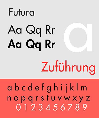 Font geometrici e Futura