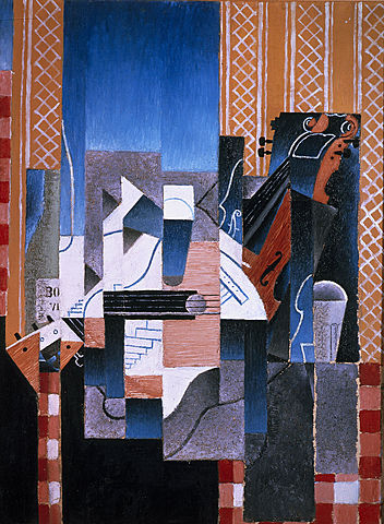 "Cubismo sintético. ""Violín y guitarra"" Juan Gris (1913)."