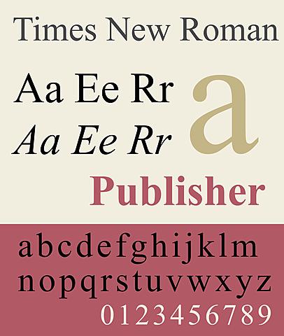 Times New Roman - Digitalizzazione