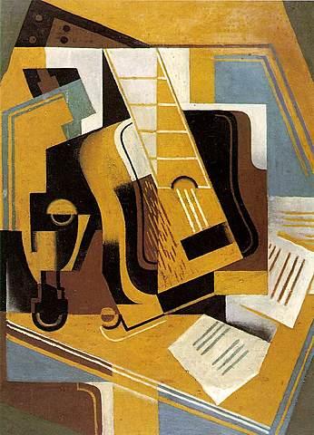 """Segundo cubismo o Arte puro. Juan Gris, """"La guitarra"""" (1918)"""