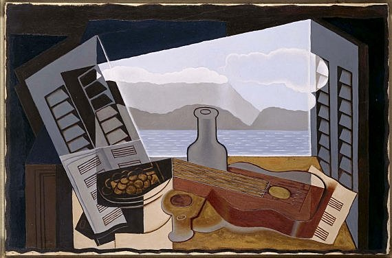"Segundo cubismo. Rimas Plásticas, Juan Gris, ""Ventana abierta"" (1921)"