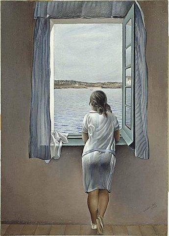 """Onirismo. Dalí, """"Retrato en la ventana"""" (1925)"""