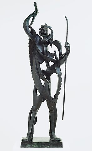 "Escultura poscubista. Previo a la Guerra Civil española. Gargallo, ""Gran profeta"" (1933)"