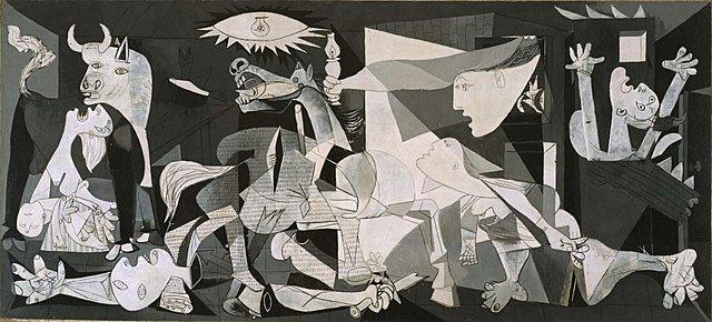 """Poscubismo. Picasso, """"Guernica"""" (1937)."""