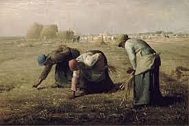 """Realisme """"Les espigolaires"""" Millet 1857"""