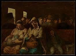 """""""El vagó de tercera classe"""" Daumier"""