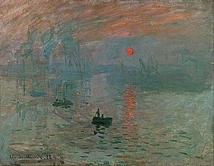 """Impressionisme """"Sol ixent"""" Monet"""