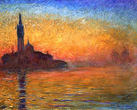 El atardecer, Monet