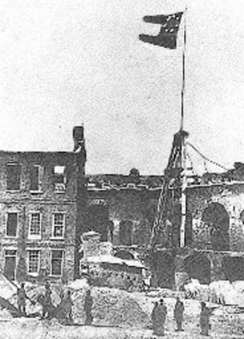 Union Surrender at Ft. Sumter