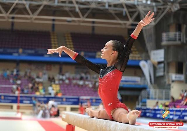 Primera competició en un campionat d'Espanya de gimnàstica artística