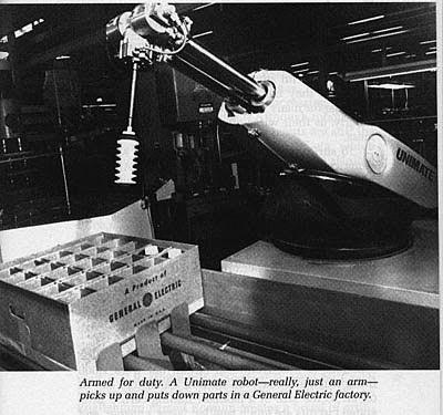 """Pone en marcha el primer robot tipo """"Unimate"""