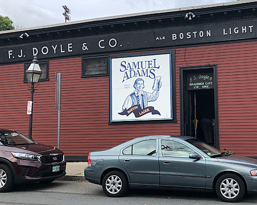Doyle's First Beer to Pour Sam Adams on Tap