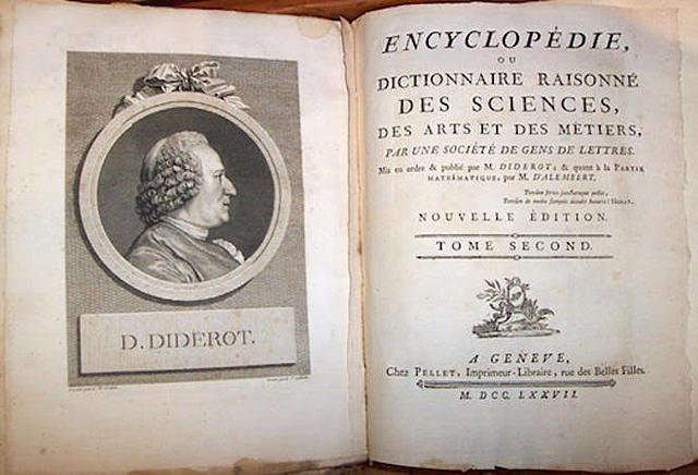 "Diderot publica ""La Enciclopedia""."